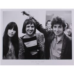 "The Hulton Archive - Cher, Sonny Bono  Bob Dylan ""He's Got Them Babe"" Limited Edition 17x22 Fine Art"