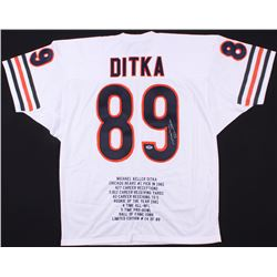 Mike Ditka Signed Bears Career Highlight Stat Jersey (PSA COA)