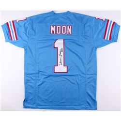 "Warren Moon Signed Oilers Jersey Inscribed ""HOF 06"" (JSA COA)"