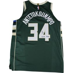 "Giannis Antetokounmpo Signed Bucks Jersey Inscribed ""Greek Freak"" (Steiner COA)"