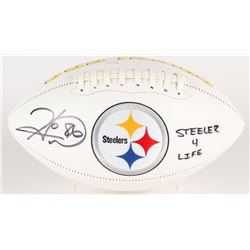 "Hines Ward Signed Steelers Logo Football Inscribed ""Steeler 4 Life"" (JSA COA)"