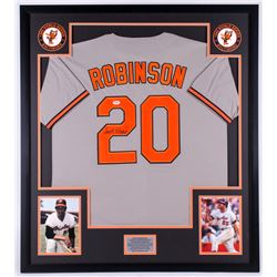 Frank Robinson Signed Orioles 34x38 Custom Framed Jersey Display (PSA COA)