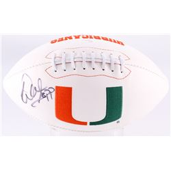 Warren Sapp Signed Miami Hurricanes Logo Football (JSA COA)
