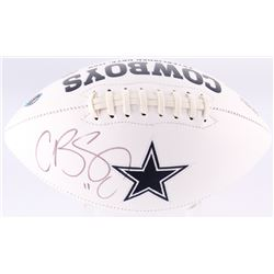 Cole Beasley Signed Cowboys Logo Football (Fanatics Hologram)