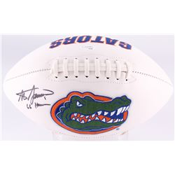 "Steve Spurrier Signed Florida Gators Logo Football Inscribed ""66 Heisman"" (JSA COA)"