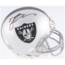 Michael Crabtree Signed Raiders Mini-Helmet (JSA COA)