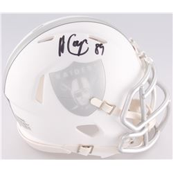 Amari Cooper Signed Raiders White Ice Custom Matte Speed Mini-Helmet (JSA COA)