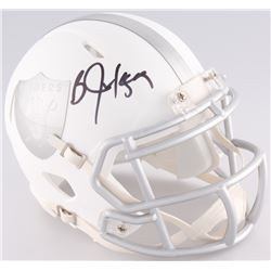 Bo Jackson Signed Raiders Custom Matte White ICE Speed Mini-Helmet (JSA COA)