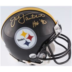 "Jack Lambert Signed Steelers Mini-Helmet Inscribed ""HOF 90"" (JSA COA)"
