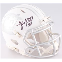 Luke Kuechly Signed Panthers White ICE Mini Helmet (JSA COA)