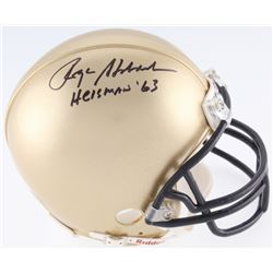 "Roger Staubach Signed Navy Midshipmen Mini-Helmet Inscribed ""Heisman '63"" (JSA COA)"