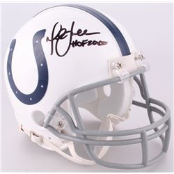 "Marshall Faulk Signed Colts Mini-Helmet Inscribed ""HOF 20XI"" (JSA COA)"