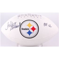 "John Stallworth  Signed Steelers Logo Football Inscribed ""HOF 02"" (JSA COA)"