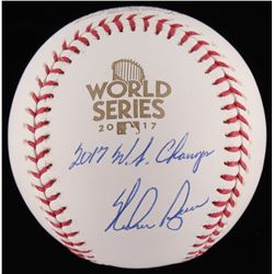 "Nolan Ryan Signed 2017 World Series Logo Baseball Inscribed ""2017 W.S. Champs"" (JSA COA  Ryan Hologr"