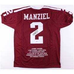 Johnny Manziel Signed Texas AM Aggies Career Highlight Stat Jersey (PSA COA)