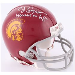 "OJ Simpson Signed USC Trojans Mini-Helmet Inscribed ""Heisman 68'"" (JSA COA)"