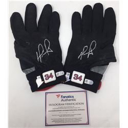 "Lot of (2) David Ortiz Signed Game-Used Batting Gloves Inscribed ""9/30/16"" (Fanatics  MLB Hologram)"