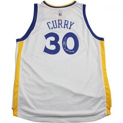 "Stephen Curry Signed Warriors Jersey Inscribed ""'17 NBA Champs"" (Steiner Hologram)"