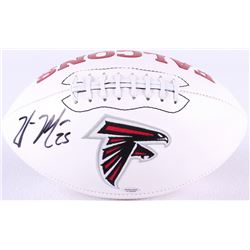 William Moore Signed Falcons Logo Football (Radtke Hologram)