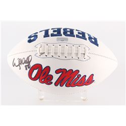 Wesley Walls Signed Ole Miss Rebels Logo Football (Radtke Hologram)