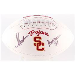 "Marcus Allen Signed USC Trojans Logo Football Inscribed ""Heisman 81"" (Radtke Hologram)"