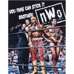 Hollywood Hulk Hogan, Kevin Nash,  Scott Hall Signed WWE 16x20 Photo Inscribed  Hollywood Hogan 4 Li