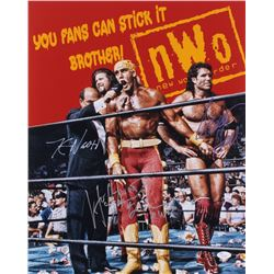 "Hollywood Hulk Hogan, Kevin Nash,  Scott Hall Signed WWE 16x20 Photo Inscribed ""Hollywood Hogan 4 Li"