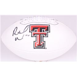 Patrick Mahomes II Signed Texas Tech Red Raiders Logo Football (Radtke COA)