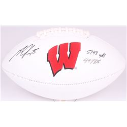 Melvin Gordon Signed Wisconsin Badgers Logo Football Inscribed  5143 yds, 49 TDS  (Radtke COA)