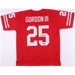 Melvin Gordon Signed Wisconsin Badgers Jersey (Radkte COA)