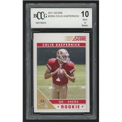 2011 Score #320A Colin Kaepernick RC / (field in background, hashmarks) (BCCG 10)