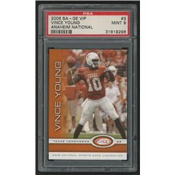 2006 SAGE National VIP Promos #3 Vince Young (PSA 9)