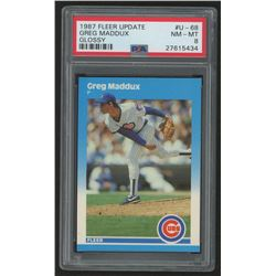 1987 Fleer Update Glossy #68 Greg Maddux (PSA 8)