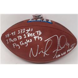 "Nick Foles Signed LE ""The Duke"" Super Bowl LII Official NFL Game Ball with (4) Inscriptions (Fanatic"