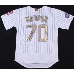 "Joe Maddon Signed Cubs 2016 World Series Champions Jersey Inscribed ""We Did Not Suck"" (JSA COA)"