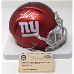Landon Collins Signed Giants Blaze Speed Mini Helmet (Steiner COA)