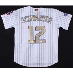 Kyle Schwarber Signed Cubs 2016 World Series Champions Jersey (JSA Hologram)