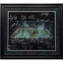 2017 Philadelphia Eagles LE 20x24 Custom Framed Photo Display Team-Signed by (20) with Nick Foles, F