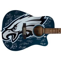 2017 Philadelphia Eagles LE Full-Size Acoustic Guitar Team-Signed by (20) with Nick Foles, Fletcher