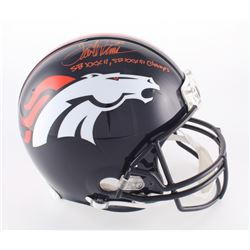 "Terrell Davis Signed Broncos Full-Size Authentic On-Field Helmet Inscribed ""SBXXXII, SBXXXIII Champs"