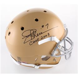 "Joe Theismann Signed Notre Dame Fighting Irish Full-Size Helmet Inscribed ""CHOF 2003"" (Radtke COA)"