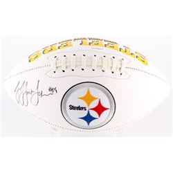 JuJu Smith-Schuster Signed Steelers Logo Football (TSE COA)