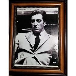 "Al Pacino Signed 22x28 ""The Godfather"" Custom Framed Canvas Print (PSA COA)"