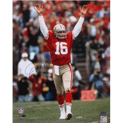 Joe Montana Signed 49ers 16x20 Photo (Radtke Hologram)