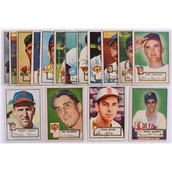 Lot Of (16) 1952 Topps Baseball Cards with #126 Fred Hutchinson, #119 Mickey McDermott, #163 Stan Ro