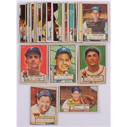 Lot Of (30) 1952 Topps Baseball Cards with #117 Sherm Lollar, #109 Ted Wilks, #114 Willard Ramsdell,