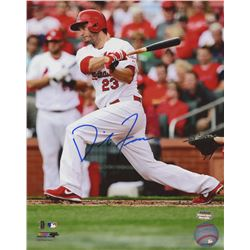 David Freese Signed Cardinals 8x10 Photo (Schwartz COA)