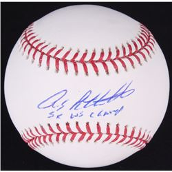 "Andy Pettitte Signed OML Baseball Inscribed ""5x WS Champ"" (JSA COA)"