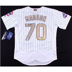 Joe Maddon Signed Cubs 2016 World Series Champions Jersey  (JSA COA)