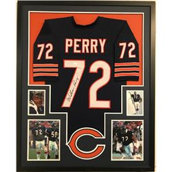 William Perry Signed Bears 34x42 Custom Framed Jersey Display (JSA COA)